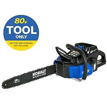 Kobalt 80-volt Max Lithium Ion 18-in Cordless Electric Chainsaw (No Battery or Charger, Chainsaw Only)