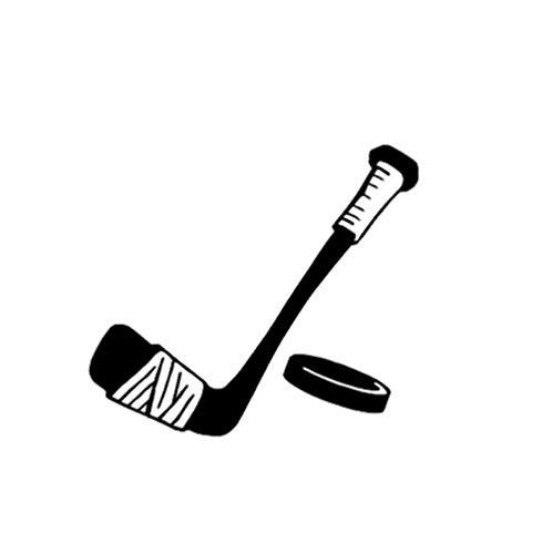 Fahrzeug-Autoaufkleber Reizendes Karikatur-Hockey-Dekor-Auto, das Aufkleber-Vinylqualitäts-Schattenbild 14.4 * 12.7CM anredet 2 Stück