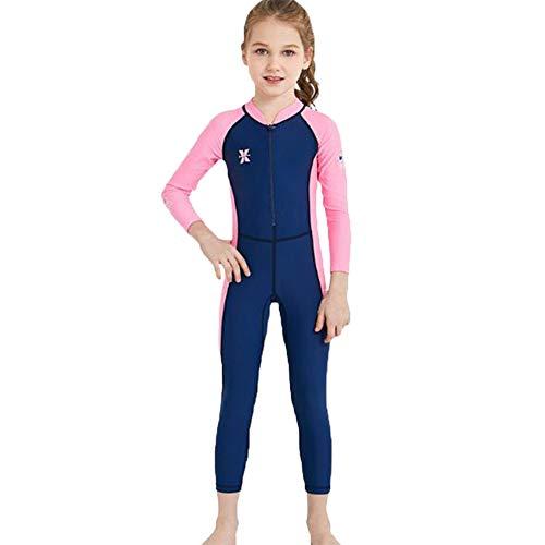 Suncaya Kinder Badeanzug UV-Schutz UPF 50+ Bademode Mädchen Jungen Einteiliger Schwimmen Wear Lange Ärmel schnell trocknend Wassersport Neoprenanzüge Alter 2-12 Jahre alt