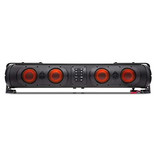 ECOXGEAR SoundExtreme 26-inch Amplified Powersports Bluetooth 8 Speaker Soundbar Waterproof Sandproof with LED Lighting 500 Watts of Peak Power