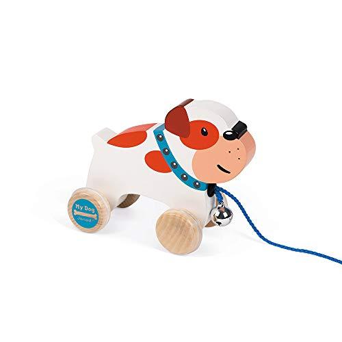 Janod J08216 My Dog Nachziehtier aus Holz, Bulldogge