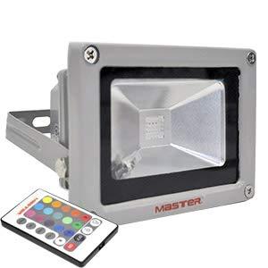 Master- Reflector de luz multicolor (16 colores diferentes) es capaz de producir diferentes tonos y efectos luminosos, potencia de 6W es ideal para letreros publicitarios, decorativos y efectos visuales