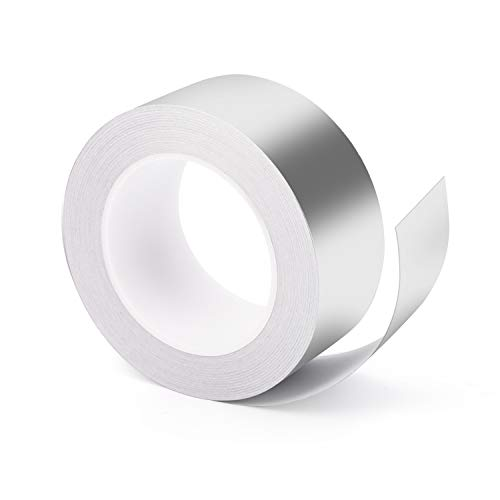 Aluminium Klebeband 30M x 50mm, Vegena Aluminiumband EMI Silber Foil Tape Abschirmband Panzertape Panzerband Klebeband Aluminiumklebebänder Selbstklebend Aluklebeband