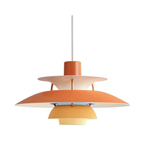 PH 5 Mini Hängeleuchte, Louis Poulsen, Pendelleuchte Entworfen von Poul Henningsen (Nuancen von Orange)