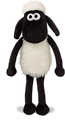 Shaun the Sheep Juguete de Peluche 61173 de 20,32 cm, Blanco y Negro, 20,32 cm, Apto para Adultos y niños