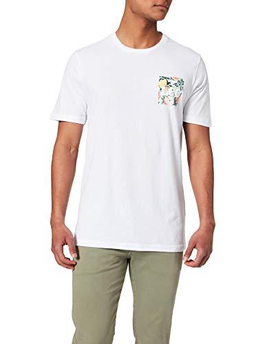 Lee Summer Logo Camisetas, Color Blanco, M/Tall para Hombre