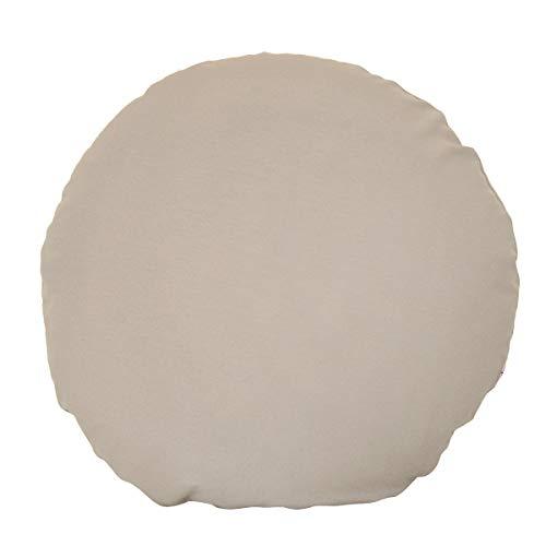 Housse de coussin ronde Beties « Lieblingston » - Diamètre : env. 80 cm - Plusieurs tailles et couleurs au choix - Compagnon idéal pour l'intérieur et l'extérieur (taupe)