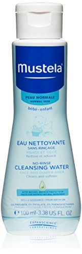 Mustela No Rinse Cleansing Water, 3.38 oz.