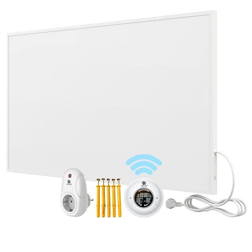 Bringer Infrarotheizung Infrarot Wandheizung Heizung Heizkörper Thermostat (1200 Watt, Heizplatte und Thermostat mit Fernbedienung (BRTF))