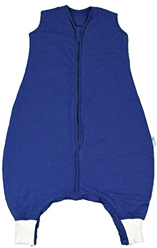 Sluimerzak, slaapzak met voeten, het hele jaar door gevoerd in 2,5 takken, verkrijgbaar in verschillende maten en designs, voor jongens en meisjes Füße 80 cm donkerblauw