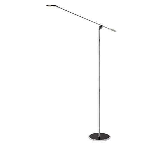 Lucide STRATOS - vloerlamp met leeslamp - LED - 1x5W 3000K - zwart