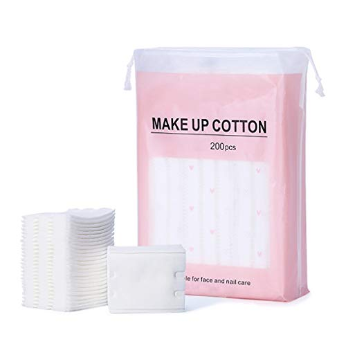 DUOER HOME Gesichtsmake-up Entferner 200 Stücke DREI Schicht Kosmetische Wattepads Wischen Natürliche Täglichen Lieferungen Gesichts Baumwolle Make-Up Entferner Werkzeug (Color : White)