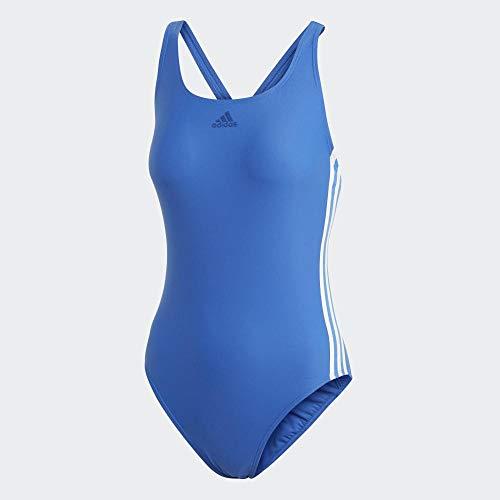 adidas Damen Athly 3-Streifen Badeanzug, Blue, 38