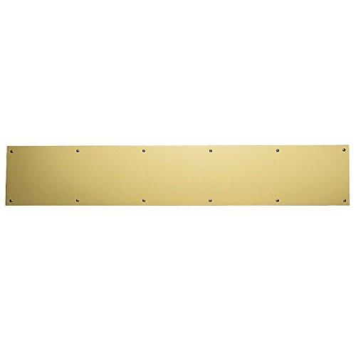Baldwin 2000.0634 6 Inch x 34 Inch Solid Brass Kick Plate, Lifetime Polished Brass