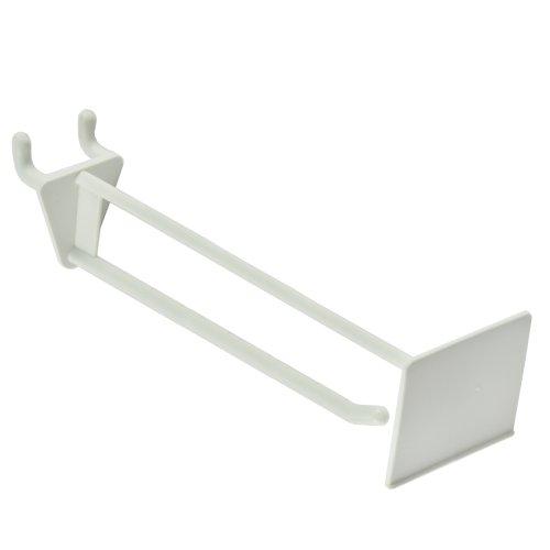 Azar 800016-WHT 6-Inch Glass-Filled Nylon Pegboard Scan Hook, White, 50-Pack