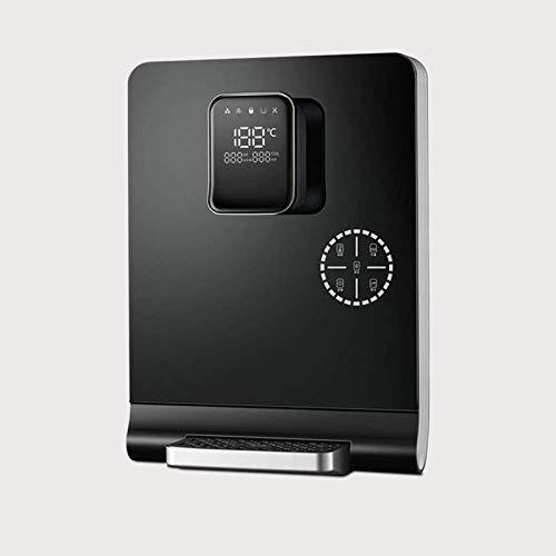 TYUIOYHZX Calentador de Agua, montado en la Pared de Control de Temperatura de Cinco velocidades, Bloqueo electrónico de Temperatura Pantalla LED Smart Touch niños (Color : Black)