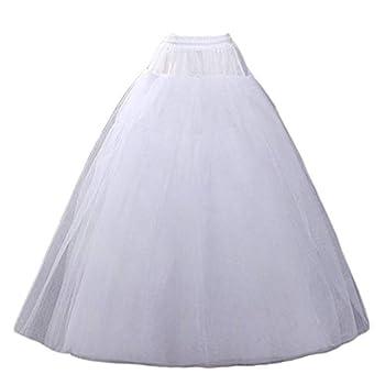 Aprildress A-line Hoopless Petticoat Crinoline Underskirt Slips for Wedding Dress PPT026 White