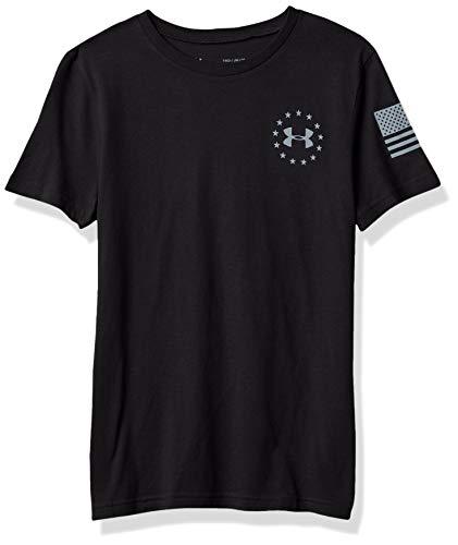 Under Armour Camiseta de la bandera de la libertad para niño - 1363417, playera de la bandera de la libertad, XS, Negro (001)/Acero
