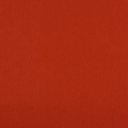 babrause® Baumwollstoff uni Terracotta Webware Meterware Popeline OEKOTEX 150cm breit - Ab 0,5 Meter