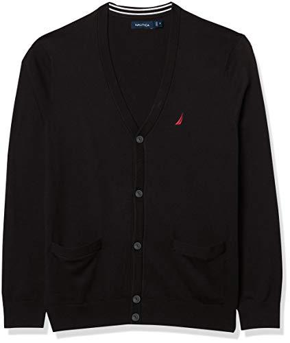 Nautica Men's Navtech Knit Cardigan, True Black, X-Large