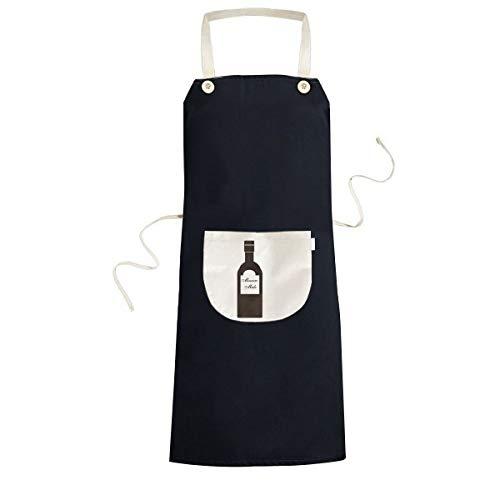 beatChong Destornillador Vodka Naranja cóctel de Jugo de cocción de la Cocina Negro Bib Delantal con Bolsillo para los Regalos de Las Mujeres de los Hombres del Cocinero