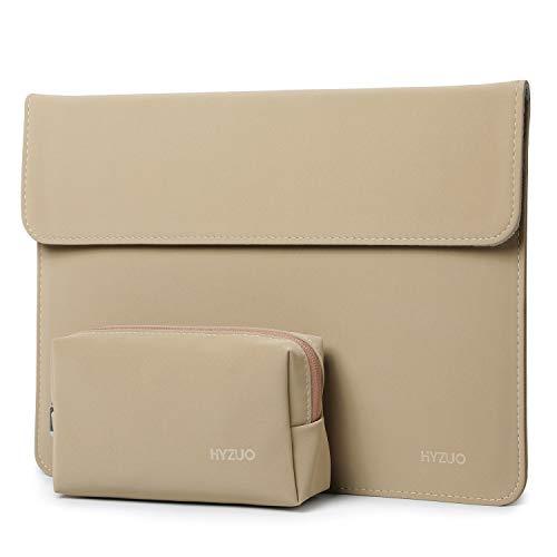 HYZUO 13-13,5 Pollici Laptop Custodia Borsa Protettiva Sleeve Portatile Cover Compatibile con 13,5 Surface Laptop/Vecchio MacBook Air 13/MacBook Pro 13/HP Spectre x360/HP ENVY 13, Cachi(Orizzontale)