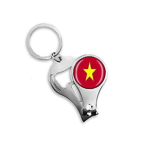 Vietnam Nationalflagge Nagelknipser Flaschenöffner Schlüsselanhänger Rucksack Anhänger Schlüsselanhänger Geschenk Reise Souvenir Multifunktionskombination