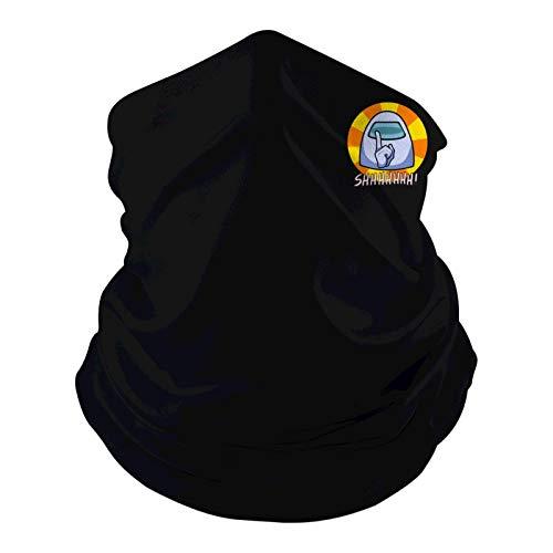 1107 Shhh Among Us - Pasamontañas para cubrir la cara, multifunción, diadema, elástica, ventilada, para exteriores