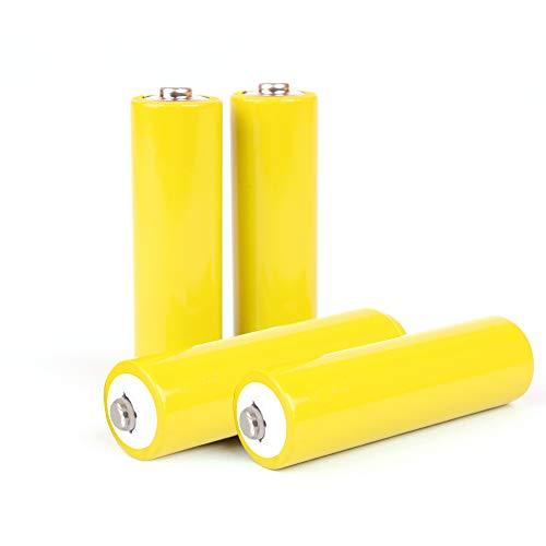 AA Battery Placeholder Cylinder Hot Dummy Fake Battery Setup Shell, 4 Pack
