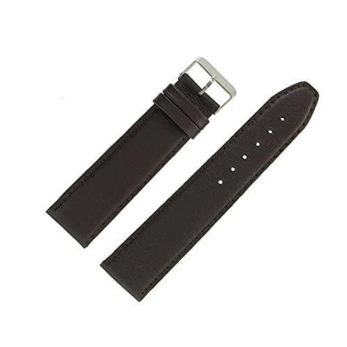 OnWatch - Correa de reloj de 24 mm, color marrón, extralarga de piel, fabricación artesanal
