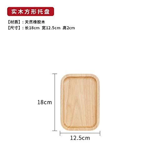 GYCZC HolzpaletteHolzgeschirr Massivholz Teller Set Japanischer Stil Teller Hotel Abendessen Teller Holzschale Holzteller Holztablett