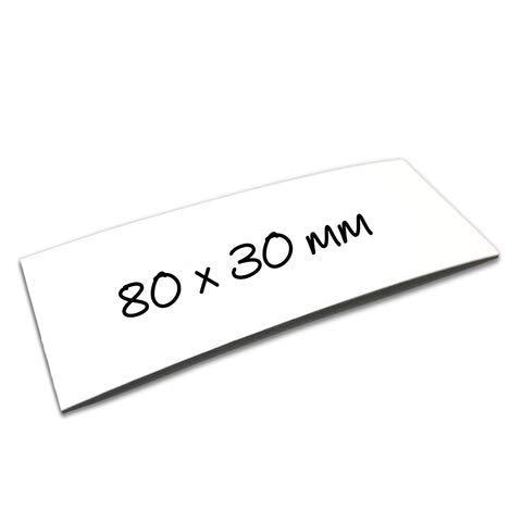 100 Magnetschilder beschreibbar 6 x 10cm in weiß Magnetstreifen Etiketten
