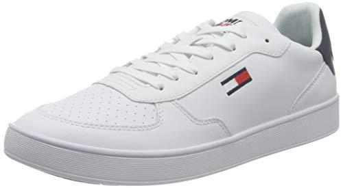 Tommy Jeans Herren Essential Cupsole Sneakers, weiß, 46 EU