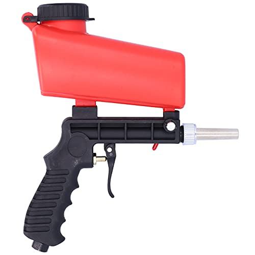 Kit de pistola de chorro de arena, herramienta de chorro de arena neumática de acero, chorro de arena portátil de mano para pulir la eliminación de óxido de metal
