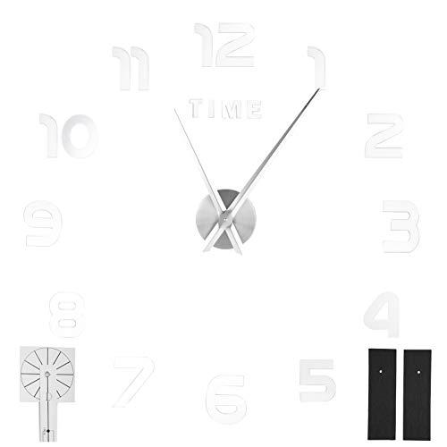 Jopwkuin Decoración del hogar de Moda, Reloj Innovador, Regalos promocionales Empresas Regalos para Manualidades(Silver)