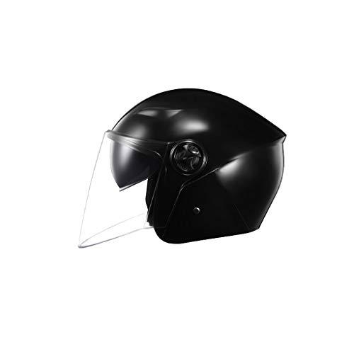 LLKK Adult Bike Helmet Battery Motorcycle Helmet,Adult Helmet Four Seasons Sun Protection Double Mirror Men And Women Winter Warm Helmet