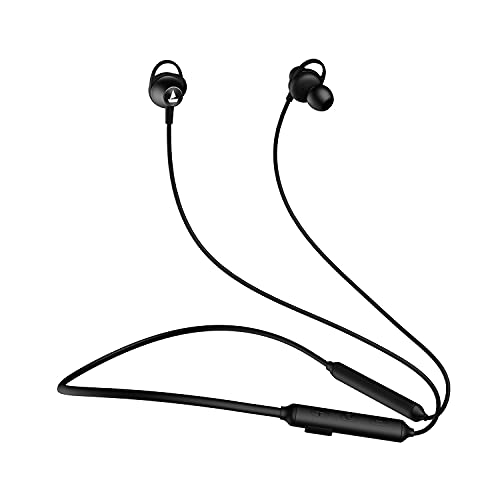 boAt Rockerz 245v2 Wireless Bluetooth V5.0, HD Immersive Audio, IPX5 Sweat and Water Resistance, in-Built mic and Voice Assistant (Active Black)