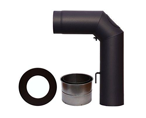 Ofenrohr-Set, 150 mm, schwarz 2003520