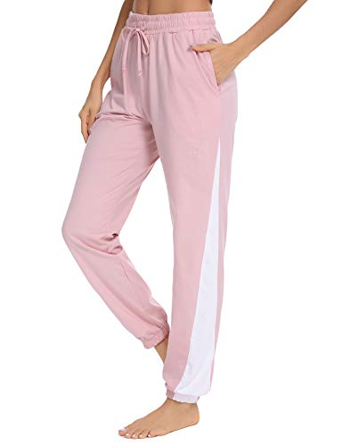Doaraha Pantalon Jogging Femme en Coton Large Pratique Léger et Confortable Idéal pour Sport Yoga et Fitness Grande Taille S-XXL