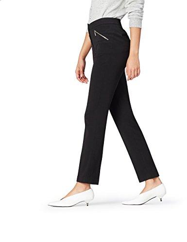 Marchio Amazon - find. Pantaloni Dritti Donna, Nero (Black), 30W / 30L, Label: 30W / 30L