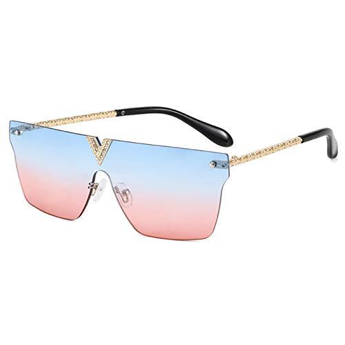 SXRAI Gafas de Sol para Mujer Lente Cuadrada Gafas de Sol para Mujer Gafas de Gran tamaño para Mujer Uv400,C7
