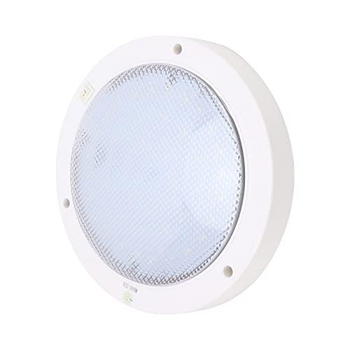 Downlight de panel LED, 12V 300lm Panel de luz LED redondo Rendimiento estable con hebilla de tornillo para RV Camper yates, barcos, etc.(Zhengbai, Tipo de torre inclinada de Pisa)
