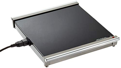 Steba Erweiterungsmodul für WP 1 Warmhalteplatte, stabile Glasoberfläche, superflache Bauweise, platzsparende Aufbewahrung, schwarz/chrom