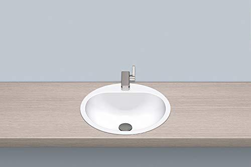 Alape EW 3.2 Einbaubecken ohne Überlauf, kreisförmig, Ø 475 mm, innen und außen glasiert, Weiß, mit Hahnloch/Waschtisch/Waschbecken