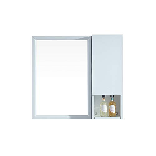 HSRG 1-deurs badkamerkast met spiegel aan de muur gemonteerde opslageenheid met planken waterdichte ijdelheid spiegelkast