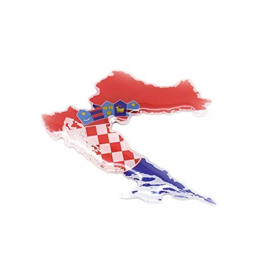 Generic Pegatina 3D para coche Hrvatska, Croacia, Croacia (12,5 x 12,5 cm)