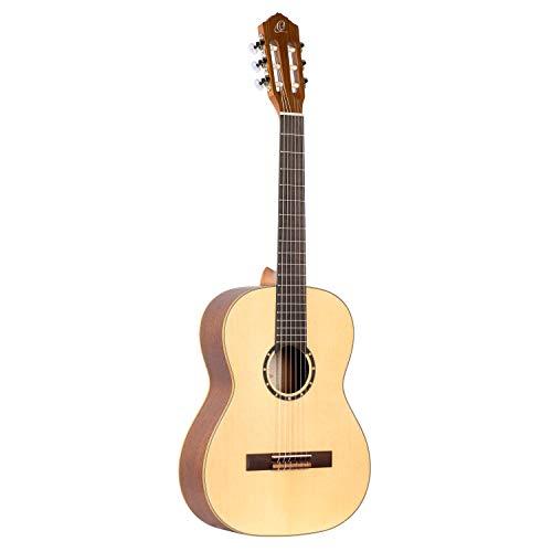 Ortega R121-7/8 - Guitarra clásica, abeto y caoba, tamaño 7/8, color natural