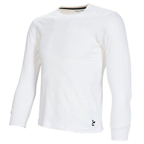 gimer 1/175 T-shirt manches longue coton sport musculation entraînement fitness gym, blanc, 12