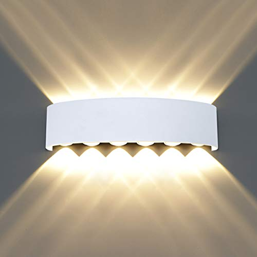 HAWEE Moderno Impermeable Luz de Pared LED Apliques de Pared