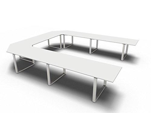 Bralco Konferenztisch groß Loopy für 13 Personen, Besprechungstisch, Seminartisch Hochwertige Büromöbel